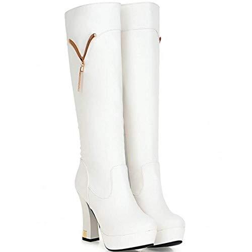 bottes à hauts mode à et femmes Bottes chaudes talons blanches la pour Vulusvalas gwZxRq