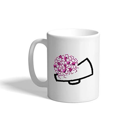 Ceramic Funny Coffee Mug Coffee Cup Cheerleading Megaphone White Tea Cup 11 -
