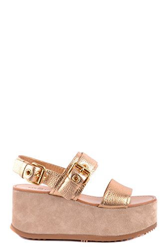 Car Shoe Women's MCBI063029O Gold Leather Wedges 4o7Fu