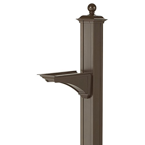 Balmoral Deluxe Post and Bracket with Finial in Bronze by Whitehall