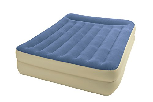 Intex Queen Pillow Rest Raised Airbed Kit with Built In AC Pump Model 67713E