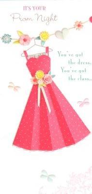 Es tu noche de graduación, tarjeta del baile