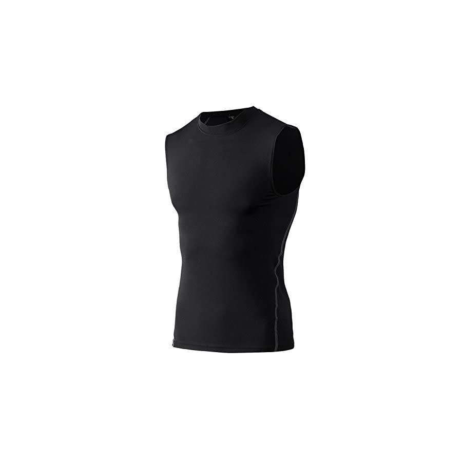 Panegy Mens Sleeveless Compression Shirts Dry Fit Under Base Layer Athletic Tank Top