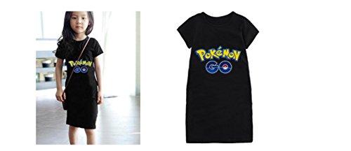 Price comparison product image Pokemon Go Girl Toddler Dress Shirt Black (130 cm)