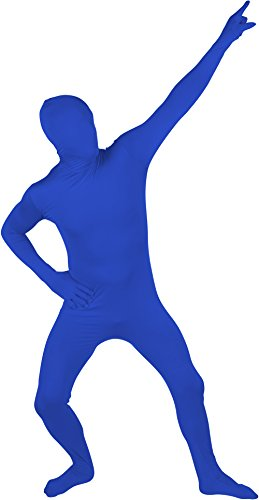 [Adult Spandex Second Skin Full Bodysuit Costume By Capital Costumes (Blue)] (Spandex Suits)