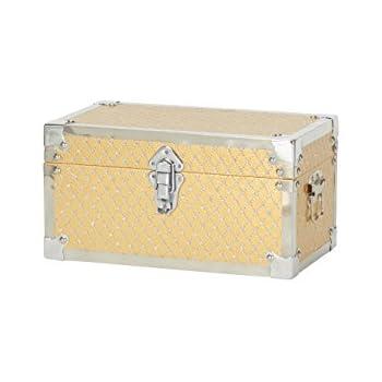 Household Essentials 9247-1 Small Decorative Storage Box - Gold