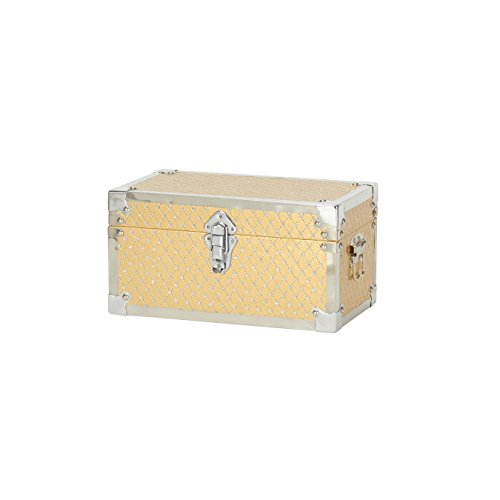 Household Essentials 9247-1 Small Decorative Storage Box - Gold