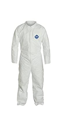 DuPont Tyvek 400 TY120S Disposable Protective Coverall, White, 2X-Large (Pack of 6)