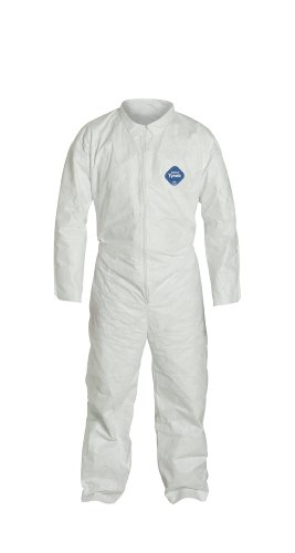 DuPont Tyvek 400 TY120S Disposable Protective Coverall, White, Medium (Pack of 6)