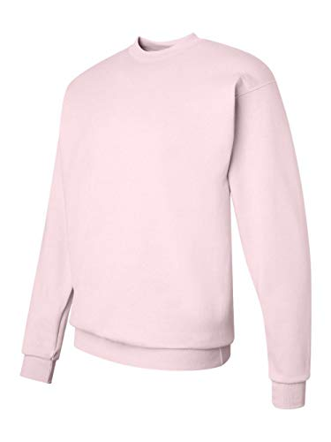Pink Womens Sweatshirt - Hanes Mens Long Sleeve Crewneck Sweatshirt - PALE PINK - Small
