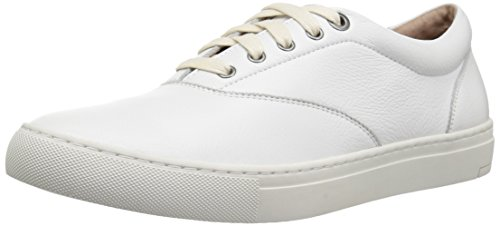 - 206 Collective Men's Olympic Casual Lace-Up Sneaker, White Leather, 11 D US