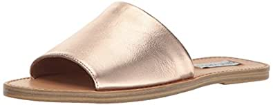 Steve Madden Women's Grace Flat Sandal, Rose Gold, 5.5 M US