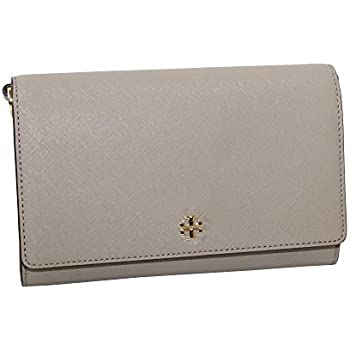 f31e0d70752d Tory Burch Women s EMERSON Chain Wallet Shoulder Bag Cross Body Bag (French  Grey)