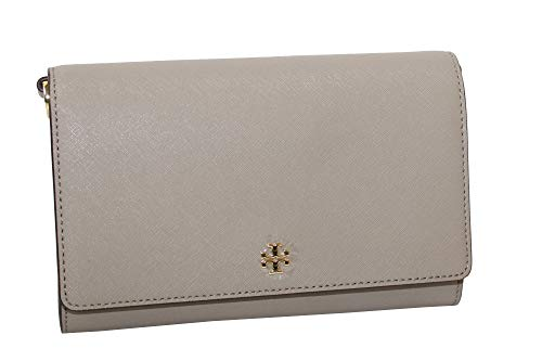 Tory Burch Women's EMERSON Chain Wallet Shoulder Bag Cross Body Bag (French Grey)