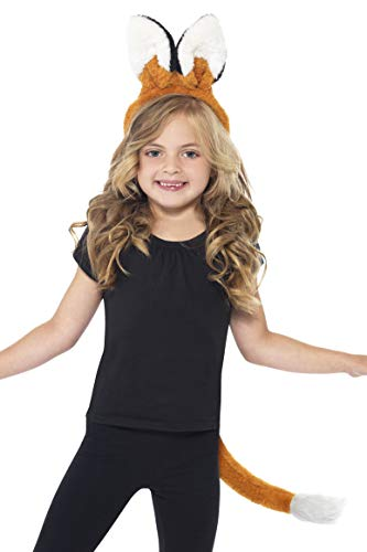Smiffys Children's Unisex Fox Kit, Headband & Tail, One Size, Colour: Brown, -