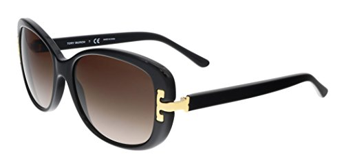 Tory Burch TY7090 - 137713 Sunglasses Black Frame, Dark Brown Gradient - Sunglasses Tory Black Burch