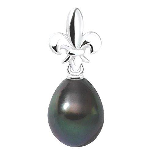 LYSY - Pendentif Perle de Tahiti - Or 18 carat - Diamètre de la perle: 8 à 9 mm - www.diamants-perles.com