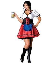 Plus Size Beer Garden Girl Costume -