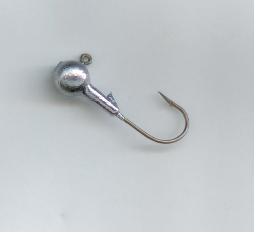DO-IT ROUND HEAD JIGS HAND POURED 1/8oz X #2 EAGLE CLAW HOOK (10 per pack)