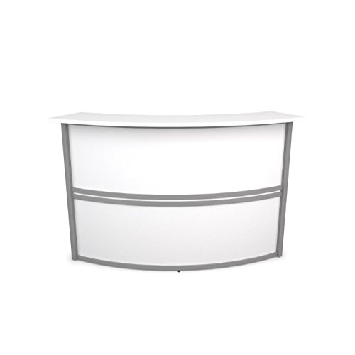 OFM Marque Add-On Unit Reception Desk in White by OFM