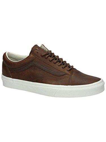 40a1c84173 Galleon - Vans Mens Old Skool Leather Sneaker Dachshund Potting Soil Size  9.5