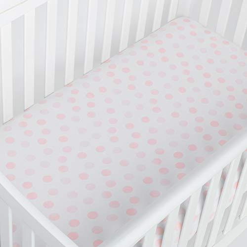 - Andi Mae Crib Sheet | Ultra Soft Premium 100% Jersey Cotton | Fits Standard Crib or Toddler Mattresses (Watercolor Pink Dots)