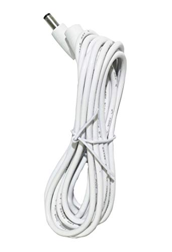 10 Feet White IP Camera Extension Cable Foscam Universal Extension Cable Compatible with 12V Power Adaper for Home Security Camera CCTV IP Camera, 2.1x5.5mm DC Plug