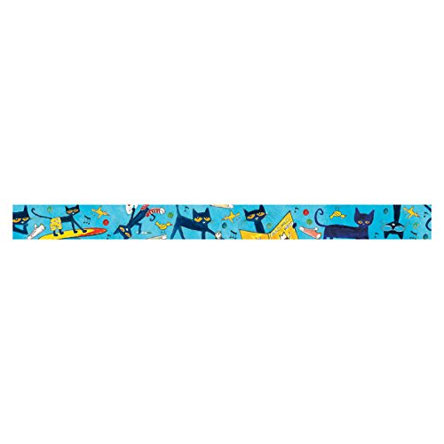 Edupress Pete the Cat Straight Border Trim (EP60325) (Pete The Cat Bulletin Board)