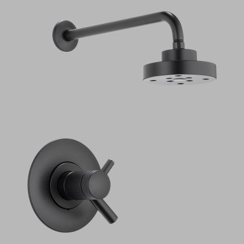 Brizo T60275-BL Odin Shower Only, Medium Flow, Matte Black by (Odin Matte)