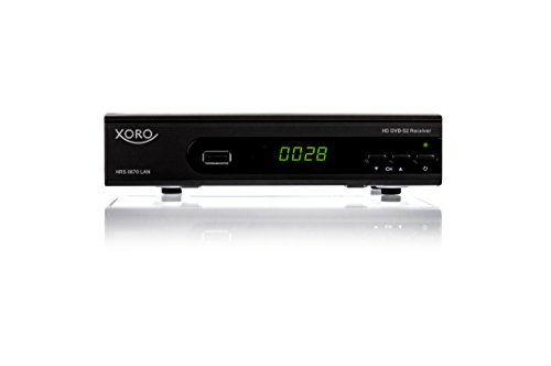 Xoro HRS8670LAN Digitaler Satelliten-Receiver (HDTV, DVB-S2, HDMI, SCART, SAT-IP Server, Live-Stream, PVR-Ready, 2x USB 2.0) schwarz