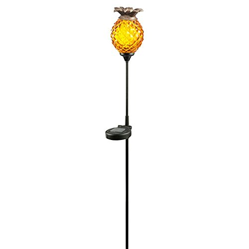 - Hampton Bay Solar Orange Outdoor Integrated LED Landscape Path Light with Glass Pineapple