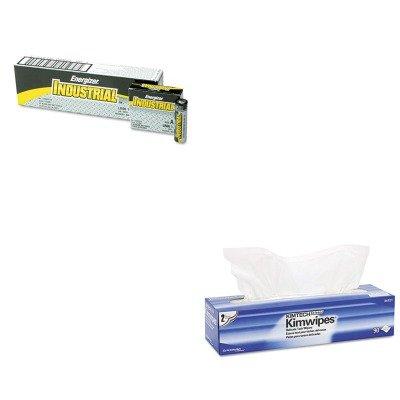 KITEVEEN91KIM34721 - Value Kit - KayDry EX L Delicate Task Wipes (KIM34721) and Energizer Industrial Alkaline Batteries (EVEEN91)
