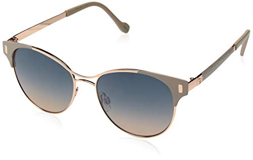 Jessica Simpson Women's J5565 Ndrgd Non-Polarized Iridium Aviator Sunglasses, Nude Rose Gold, 57 ()