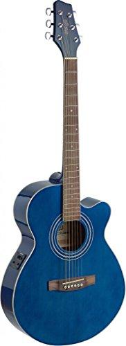 utaway Acoustic-Electric Mini Jumbo Concert Guitar - Transparent Blue ()