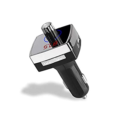 Car FM Transmitter Bluetooth(V4.2), Smavida All-in-One Compact Hands-Free Car Kit Audio MP3 Player & Dual USB Car Charger, 5V 2.1A&1A: Car Electronics