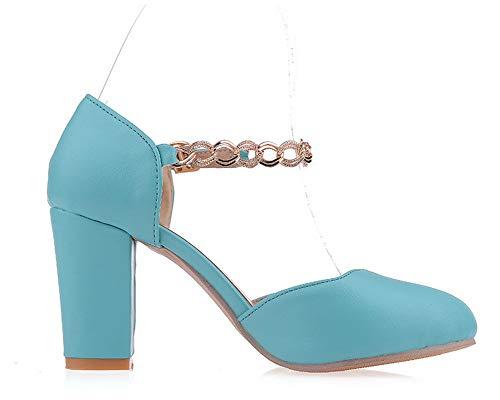 Solid Blu sandali con infradito Agoolar Pu Donna Gmxlb010281 5qOv0