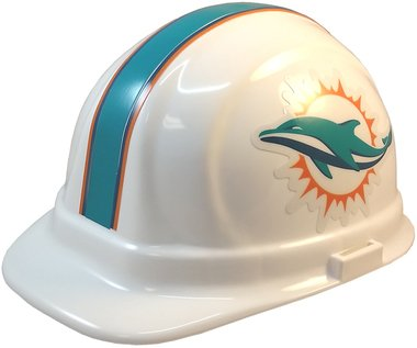 fc4ab20df580ce Image Unavailable. Image not available for. Color: Texas American Safety  Company NFL Miami Dolphins Hard Hats with Ratchet Suspension