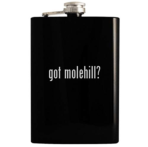 got molehill? - 8oz Hip Drinking Alcohol Flask, Black ()