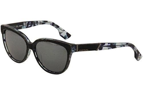 Diesel DL 139 DL0139 55C Sunglasses Coloured Havana / Smoke - Sunglasses Mirror Diesel