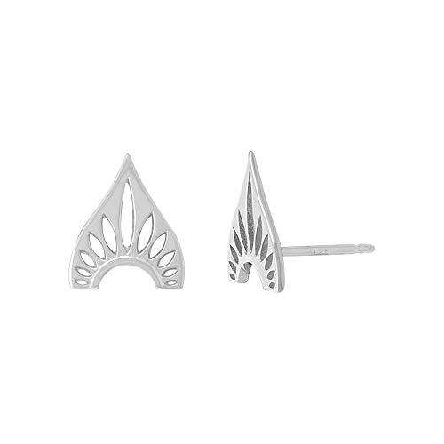 Boma Jewelry Sterling Silver Bohemian Tribal Shield Stud Earrings
