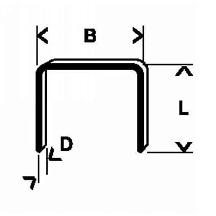 Bosch 2 609 200 216 - Grapa de alambre fino tipo 53-11,4 x 0 ...