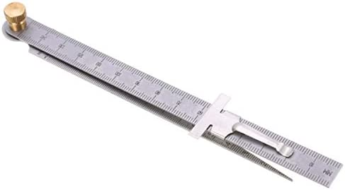 JPLJJ 開口測定 ステンレス鋼 テーパー定規1-15 mmクリアランス定規