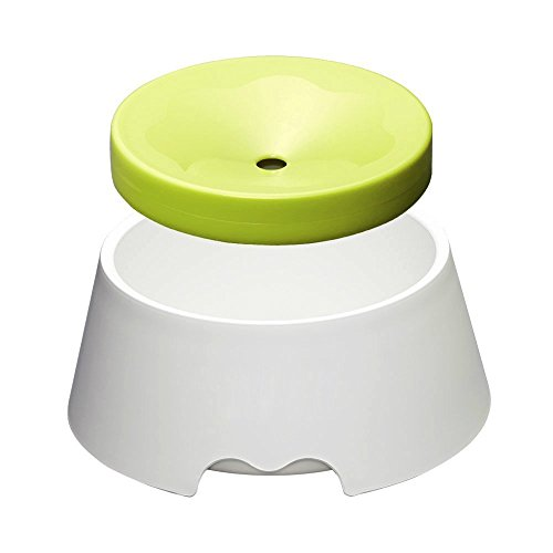 Misyue Dogs No Spill Proof Water Bowl Slow Feeder 1000ML(34OZ) 2 in 1 Innovative No Spill Dripless Cat&Dog Bowl