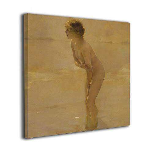 MoulMa Canvas Naked Women Taking Off The White Dress Nude Sexy Lady Girl Picture Paintings Wall Art Prints Modern Home Decoration Giclee Artwork-Wood Frame Gallery Wrapped