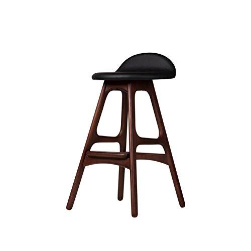 Price comparison product image Design Tree Home Erik Buch OD Mobler Teak Counter Stool,  Black Leather