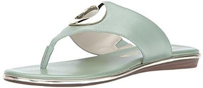 Anne Klein Women's Gia Leather Flip-Flop