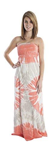 Hard Tail tie dye strapless maxi dress (large)