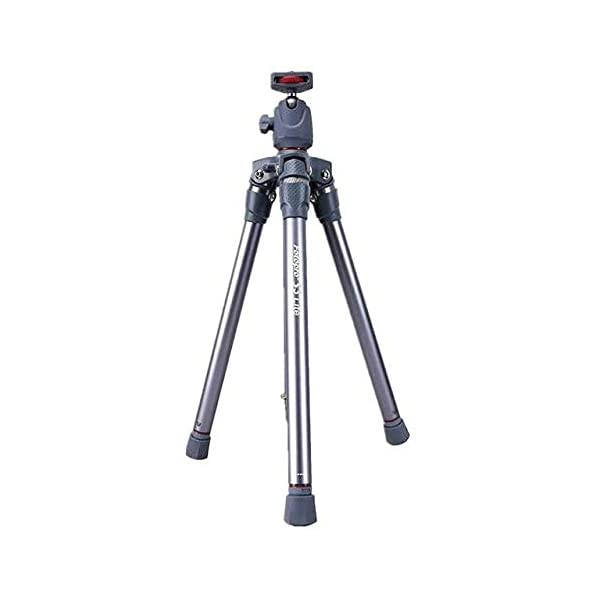RetinaPix Fotopro S3 Lite Lightweight Camera Tripod Stand with Ball Head for DSLR Camera, Gopro, Smartphone, Grey+Red Payload 2.5Kg