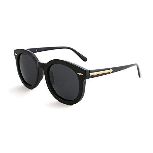 Redonda de 100 Luz sol Polarizada Negro Negro Clásico Sra Solar Protección Espejo Retro Cara gafas UV Protección Hombres Decoración WYYY Anti Color UVA 8C5qx
