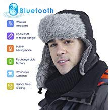 Everplus Bluetooth Hunting Hat, Trooper Trapper Hat Built-in HD Stereo Speakers & Microphone Rechargeable USB Winter Fitness Outdoor Sports
